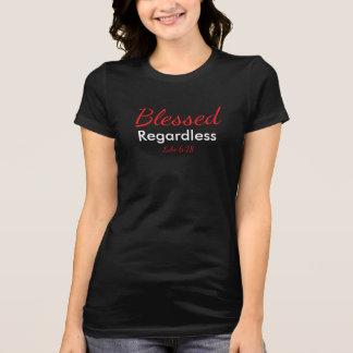 Camiseta O preto das mulheres indiferentes abençoadas