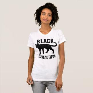 Camiseta O PRETO É t-shirt BONITOS do CAT