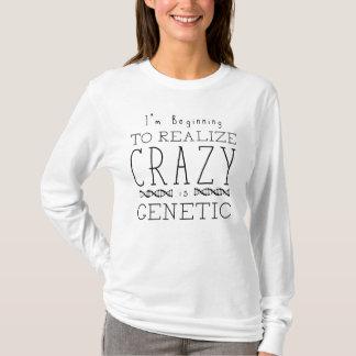 Camiseta O preto órfão | louco é genético