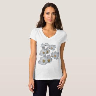 Camiseta O primavera branco dos açafrões floresce o Tshirt