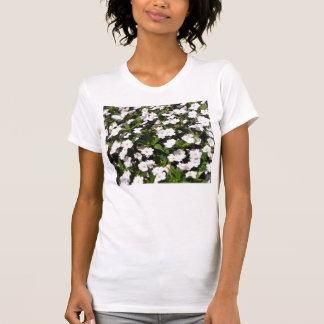 Camiseta o primavera floresce a camisola de alças das