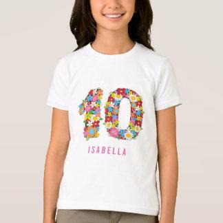 Camiseta O primavera floresce festa de aniversário da