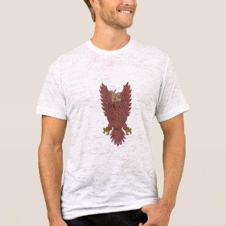 Camiseta O pulso de disparo Swooping espalhado as asas da