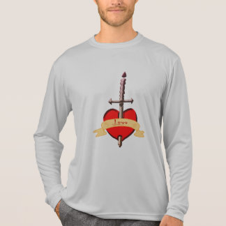 Camiseta o punhal do amor perfurou o coração