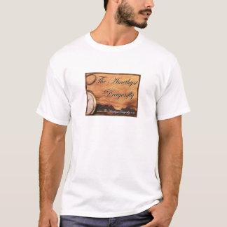 Camiseta O quadrado amethyst t padrão da libélula