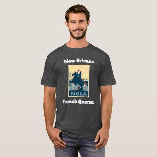Camiseta O quadrado de Jackson do vintage do bairro francês