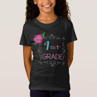 Camiseta O quadro de primeiro grau da flor aumentou