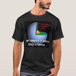 Camiseta O que acontece em estadas de Uranus em Uranus