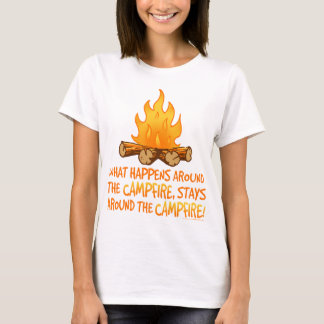 Camiseta O que acontece em torno da fogueira