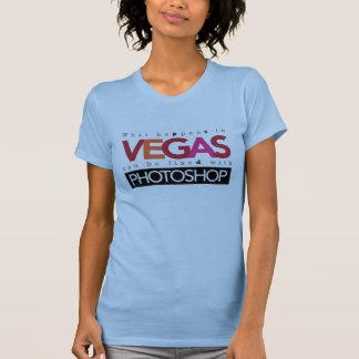 Camiseta O que acontece em Vegas pode ser fixado com