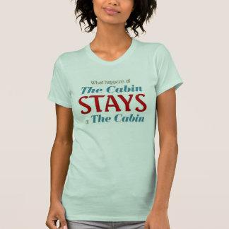 Camiseta O que acontece nas estadas da cabine na cabine