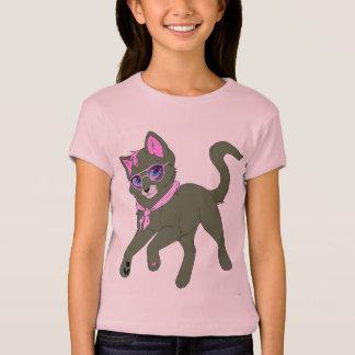 Camiseta O que é t-shirt novo do T das meninas do gatinho