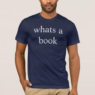 Camiseta o que é um livro