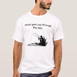 Camiseta O que me obtem com o dia