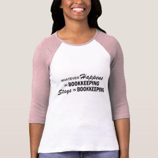 Camiseta O que quer que acontece - contabilidade