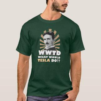 Camiseta O que Tesla faria o t-shirt