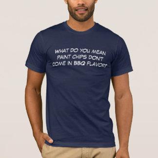 Camiseta O que você significam as microplaquetas da pintura