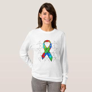 Camiseta O quebra-cabeça da consciência do autismo remenda