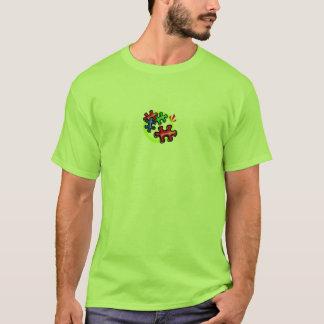 Camiseta O quebra-cabeça do autismo remenda o t-shirt
