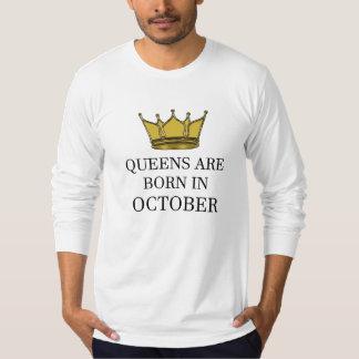 Camiseta O Queens é nascido em outubro