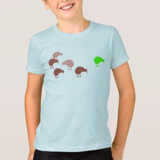 Camiseta O quivi.  Pássaro nacional de….um….mim dunno