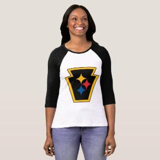 Camiseta O Raglan das mulheres de HypoKeystone