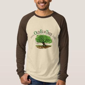 Camiseta O raglan. longo-sleeved dos homens