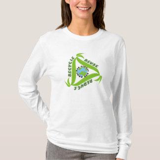 Camiseta O reciclar, reusar, reduz t-shirt
