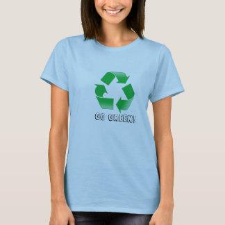 Camiseta o reciclar, vai verde!