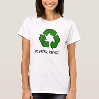 Camiseta o reciclar, vai verde, recicl