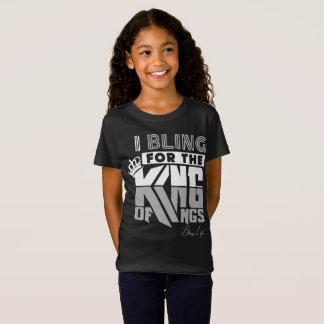 Camiseta O rei das meninas da vida de Bling dos reis Fino