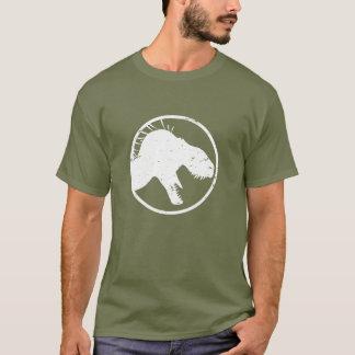 Camiseta O rei do tirano dos homens afligiu a camisa, verde