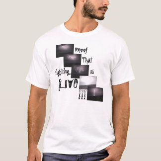 Camiseta O relâmpago está VIVO!!!
