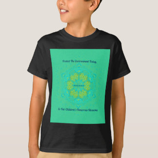 Camiseta O #Resist protege a mandala do Anti-Trunfo do