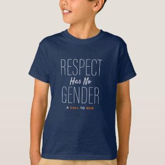 """Camiseta O """"respeito não tem nenhum género"""" T de uma"""