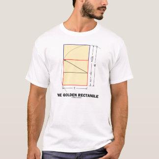 Camiseta O retângulo dourado (relação matemática)