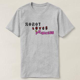 Camiseta O robô ama a princesa