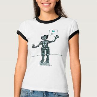 Camiseta O robô e o gatinho são amigos