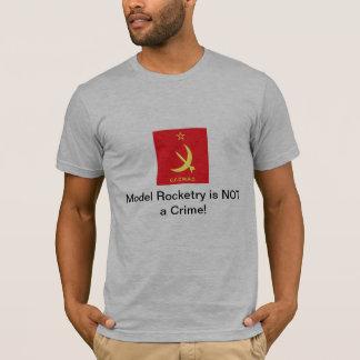 """Camiseta O Rocketry modelo de CCCMRC """"não é um crime! """""""