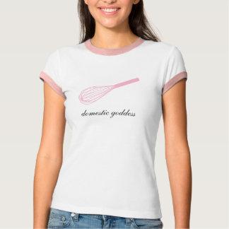 Camiseta O rosa doméstico da deusa whisk o T da campainha