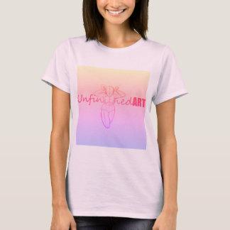Camiseta O rosa inacabado da arte desvanece-se parte