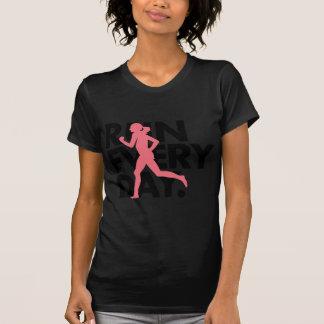 "Camiseta O rosa/preto ""funciona cada dia """
