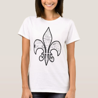 Camiseta O roteiro francês da flor de lis exprime Paris