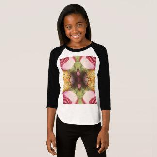 Camiseta O roupa americano das meninas 3/4 de t-shirt do