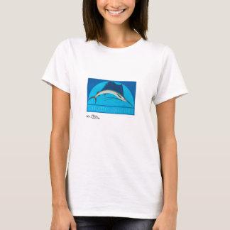Camiseta O roupa leve das mulheres do Sailfish atlântico