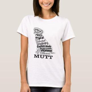Camiseta O roupa ocasional do amante do cão da vira-lata