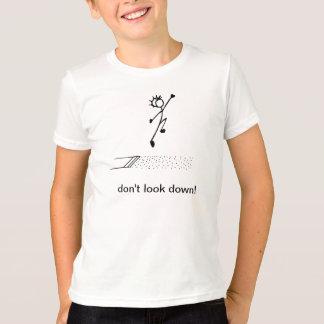 """Camiseta O salto longo """"não olha para baixo!"""" Atletismo"""