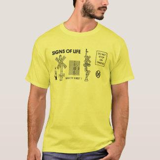 Camiseta O salvamento do cruzamento do trem de estrada de