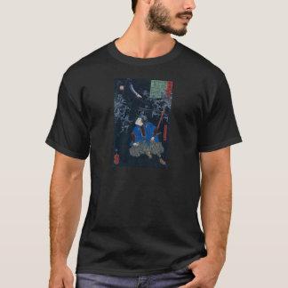 Camiseta O samurai luta os esqueletos