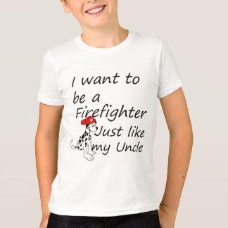 Camiseta O sapador-bombeiro gosta de meu tio